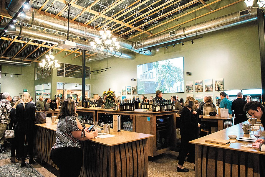Maryhill Winery's new Kendall Yards tasting spot has stunning views, delicious wines to attract people year-round. - JENNIFER DEBARROS