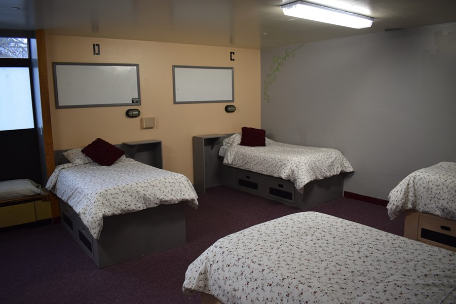 Four of the 13 beds at Daybreak's just-opened evaluation and treatment center. - WILSON CRISCIONE PHOTO