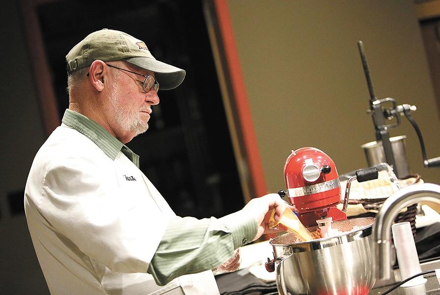 Richard Hodge at work, making something delicious. - YOUNG KWAK