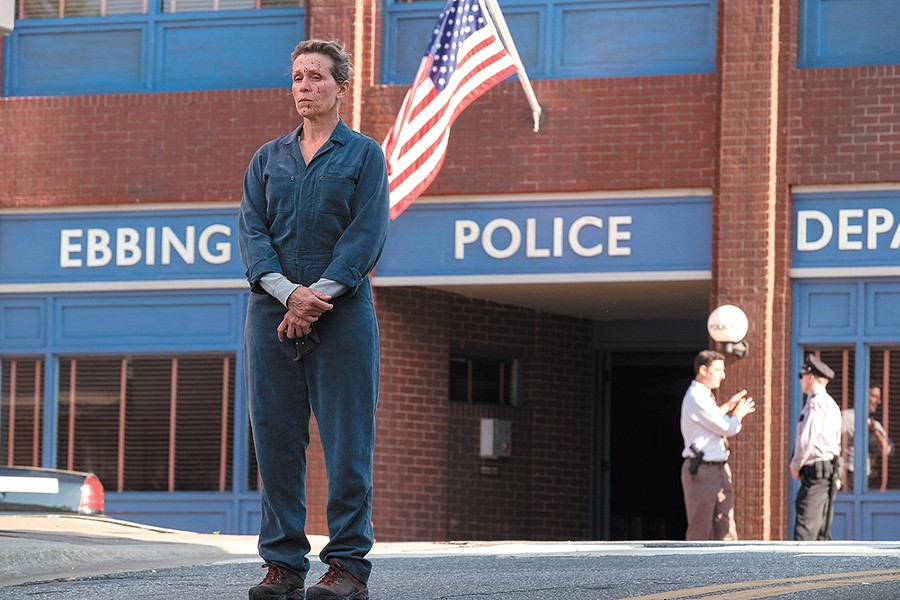 Frances McDormand seeks closure (and maybe revenge) in Three Billboards Outside Ebbing, Missouri.