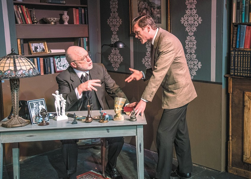 J.P. O'Shaughnessy as Sigmund Freud and Dalin Tipton as C.S. Lewis. - LARRY WOOLEY PHOTO
