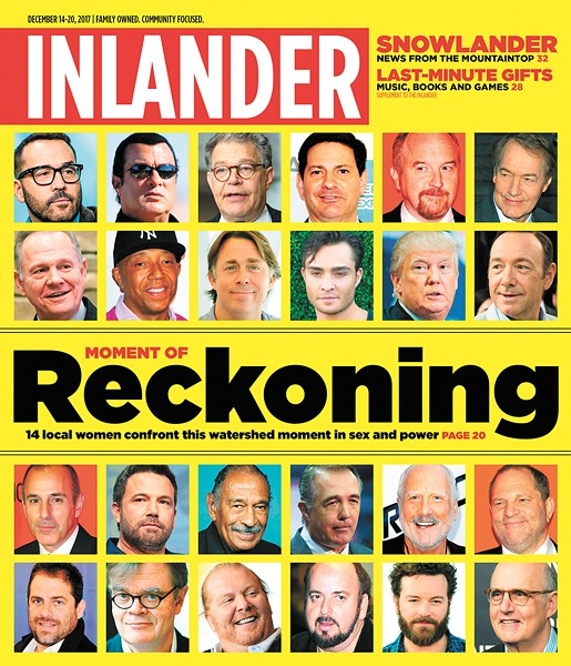The cover of the Inlander (12/14/17) documenting America's #MeToo moment.