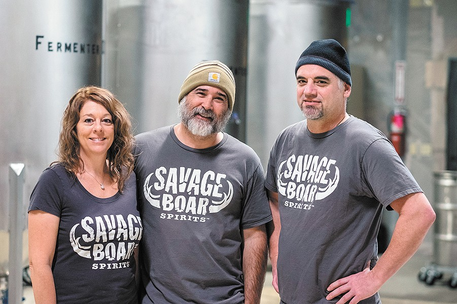 The Savage Boar team (from left): Brenda Wilbur, Alex Wilbur and John Barrom. - HECTOR AIZON