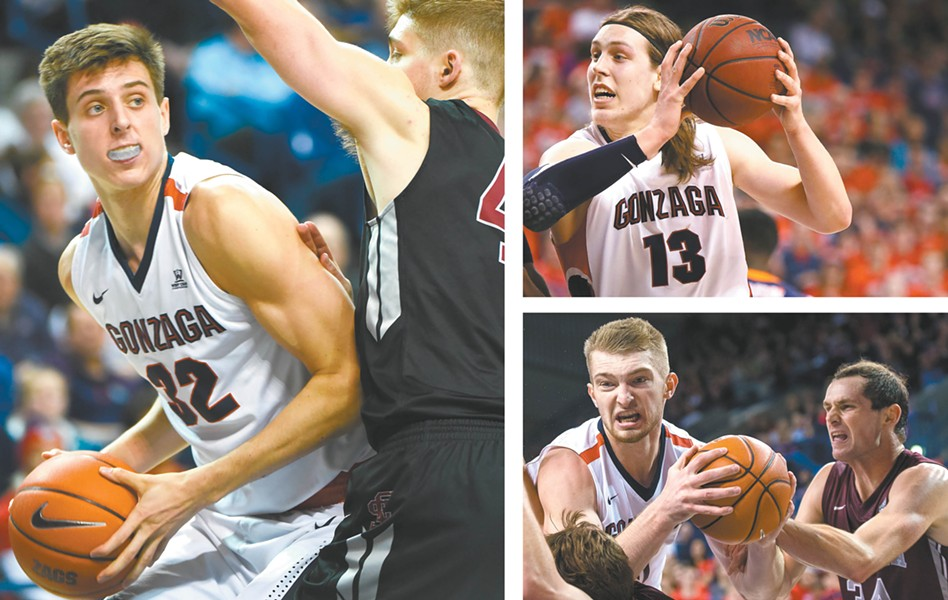 (Clockwise from left) Zach Collins, Kelly Olynyk and Domantas Sabonis are all making a mark in the NBA.