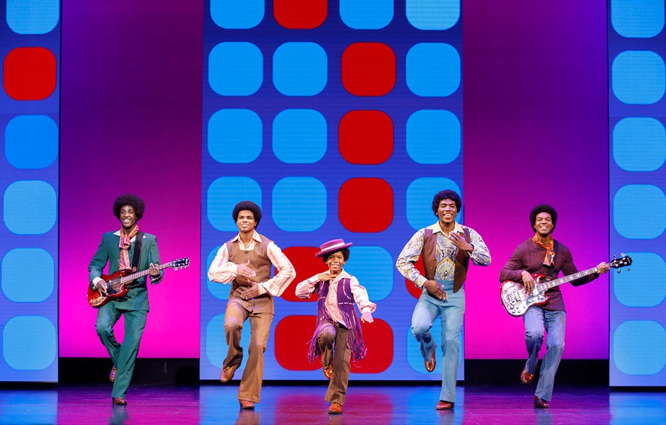 Yes, the Jackson Five make an appearance in Motown: The Musical - JOAN MARCUS