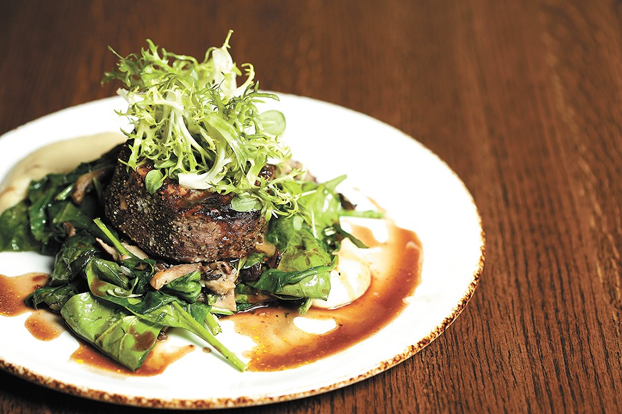 The filet mignon is another reimagined entrée. - YOUNG KWAK
