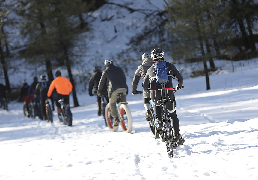 Off on a winter's ride in the hills around Riverside State Park. - YOUNG KWAK