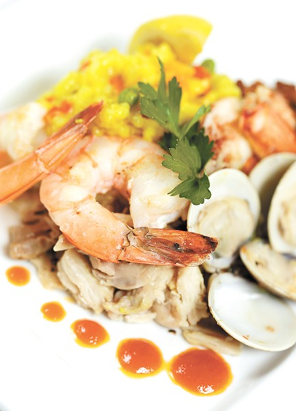 Seafood paella from Barrel Steak & Seafood