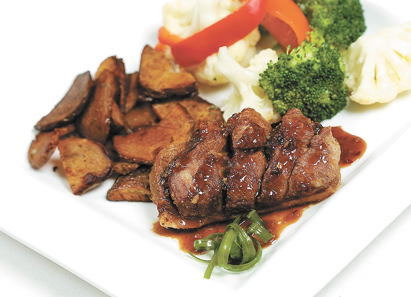 Steelhead's Thai glazed duck breast