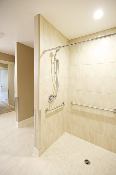 The home includes wheelchair-accessible bathrooms. - YOUNG KWAK