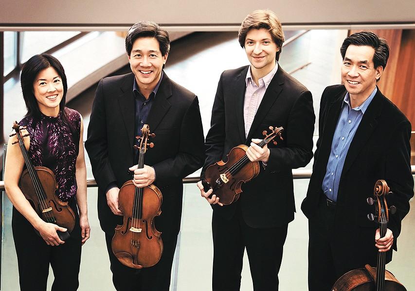 The Grammy-winning Ying String Quartet.