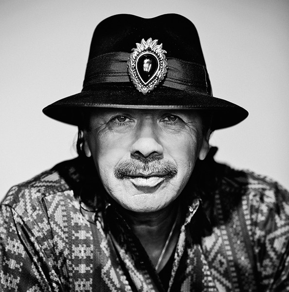 Carlos Santana, one of the most influential guitarists of all time, will perform at the Arena on Sunday night. - RUBEN MARTIN PHOTO