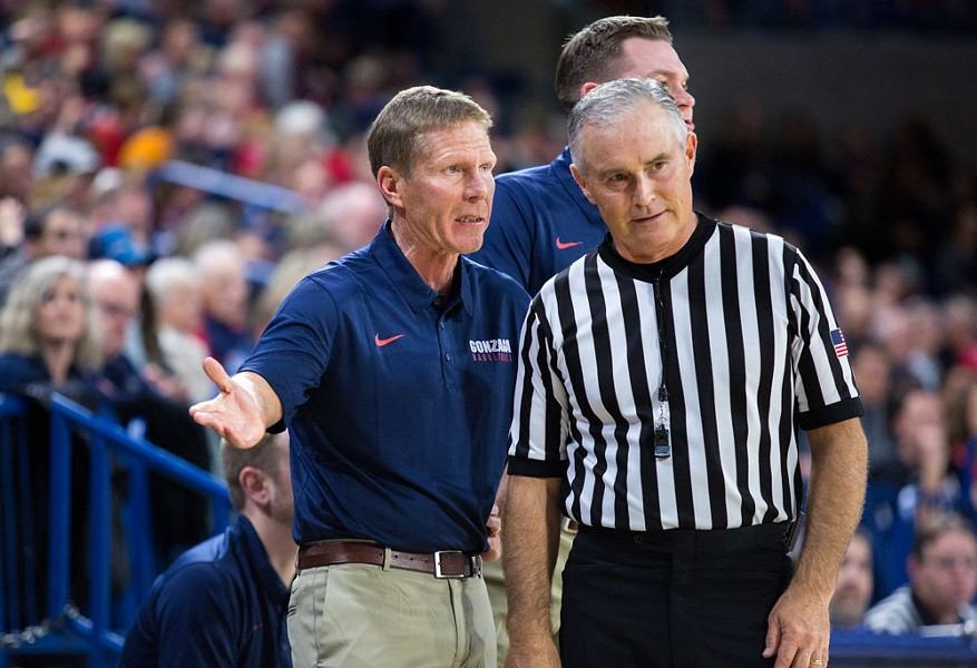 Gonzaga coach Mark Few saw his team put on a clinic Tuesday night in beating BYU in the WCC conference tournament. - LIBBY KAMROWSKI