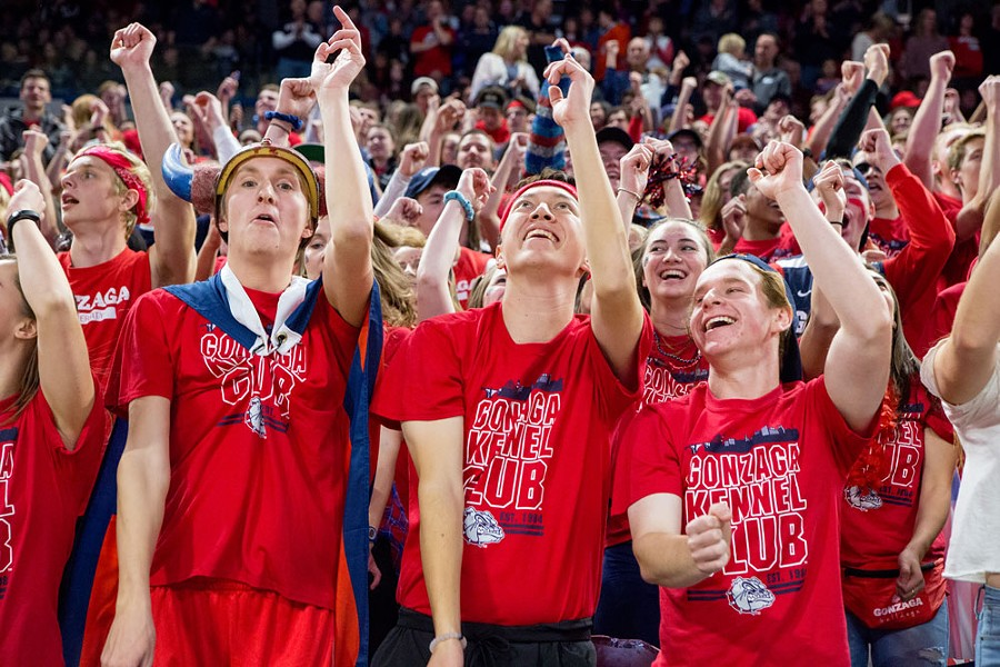 Expect a large contingent of Gonzaga's Kennel Club to make the trip to Boise for Thursday's 10:30 am game against UNC Greensboro. - LIBBY KAMROWSKI PHOTO