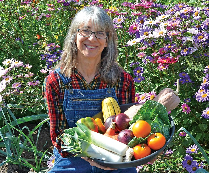 From mining engineer to food engineer: Anita Eccles in the garden.