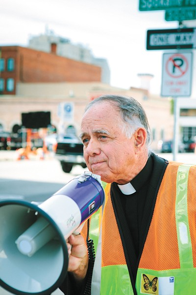 Rev. George Taylor's urge to protest climate change comes in part over concern for the health and safety of his grandchildren. - KRISTEN BLACK PHOTO