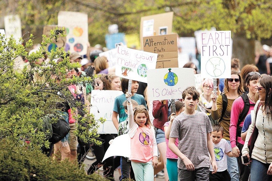 The 2017 March for Science in Spokane. - YOUNG KWAK