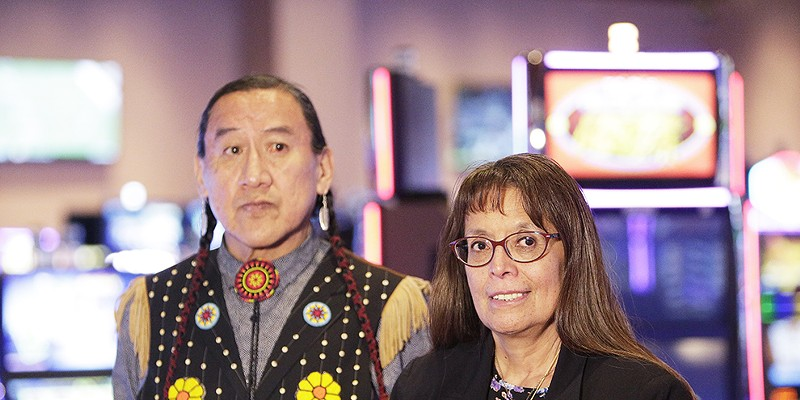 New Slideshow Spokane Tribal Council Chair Carol Evans, right, and Vice-Chair David Browneagle meet with the media at the Spokane Tribe Casino in Airway Heights on Friday Young Kwak