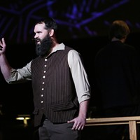 Spokane Symphony + Terrain: Uncharted Writer Simeon Mills speaks while playing the role of Grandpa.