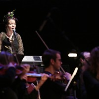 Spokane Symphony + Terrain: Uncharted Singer/songwriter Liz Rogues performs while playing the role of The Bird.