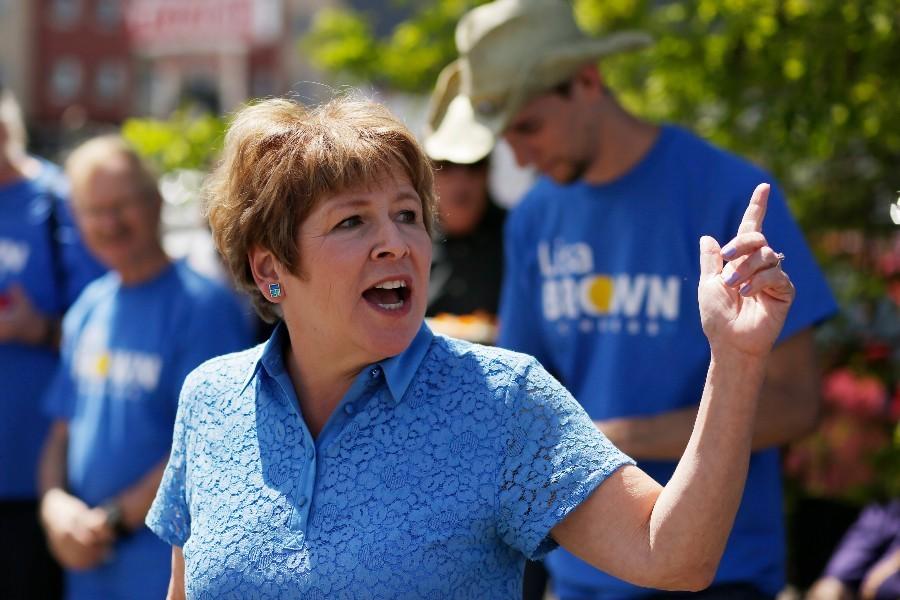 Democratic challenger Lisa Brown