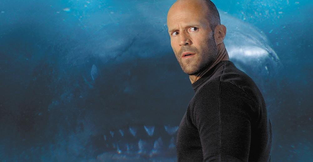 Into the shallows: Jason Statham's big fish story falls somewhere between Jaws and the Sharknado movies.