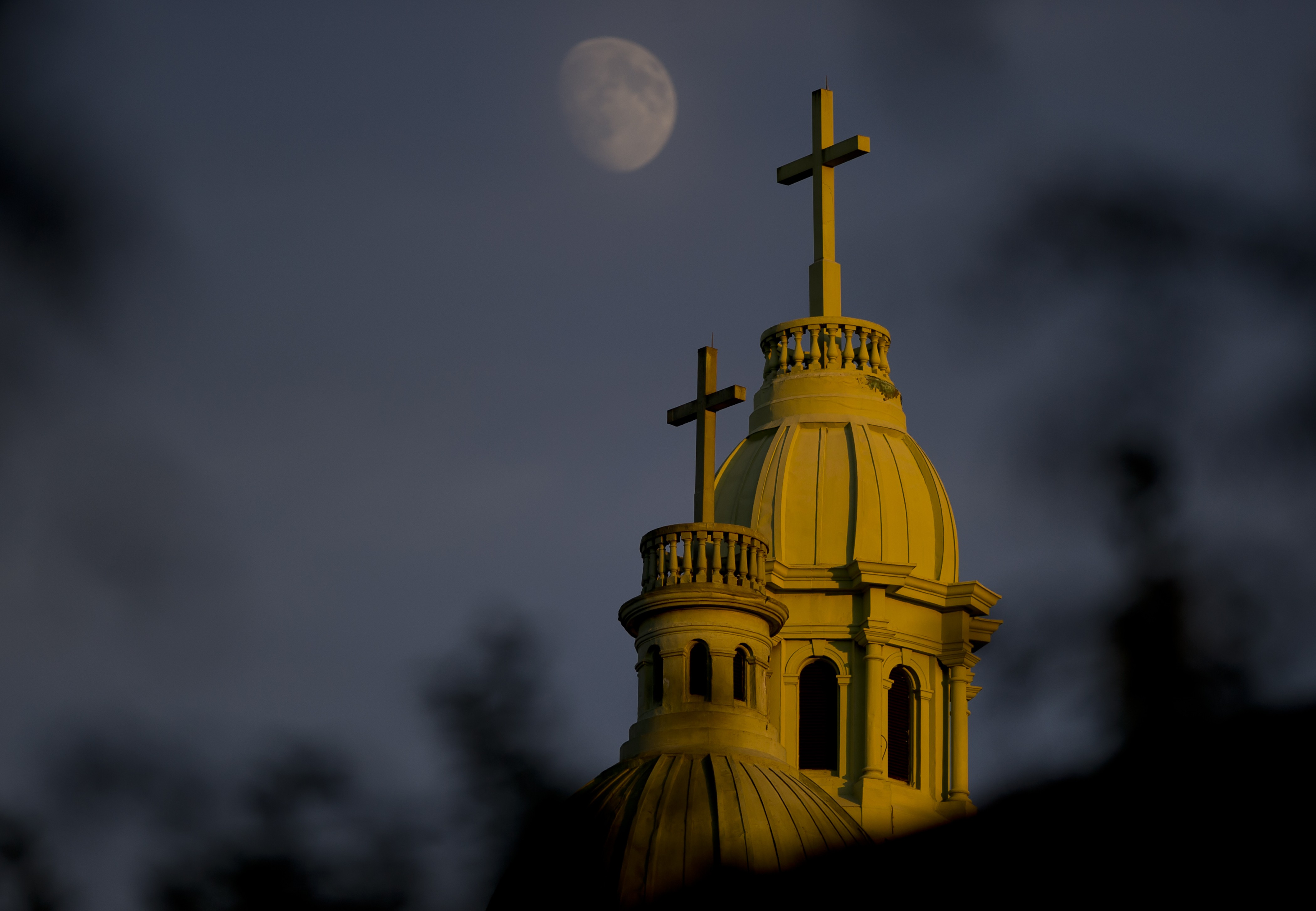 click to enlarge A Catholic church in