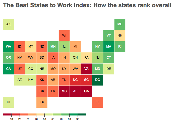 According to a new report released by Oxfam America, Washington is the best state for workers in the country. Idaho, not so much. - OXFAM AMERICA