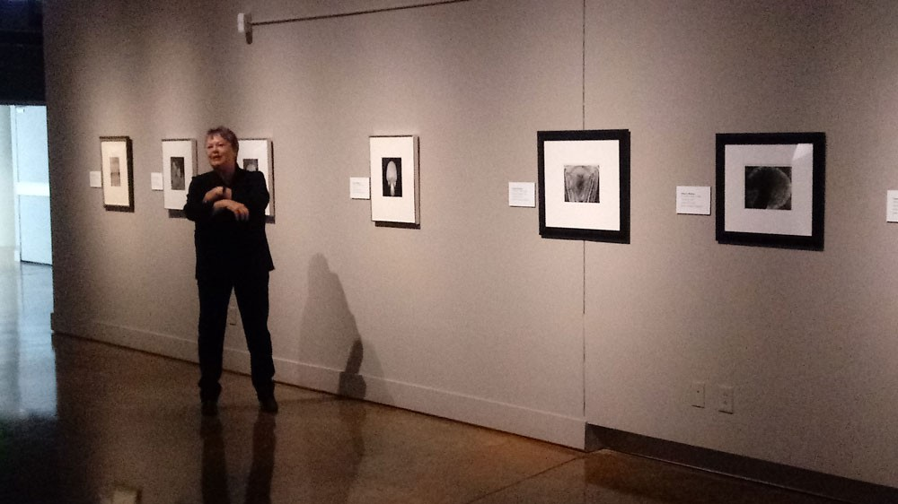 Mary Street Alinder, Ansel Adams' chief assistant the last five years of the photographer's life, at the MAC Wednesday. She'll speak at the museum Thursday night. - DAN NAILEN PHOTO