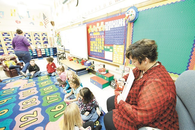 A Madison Elementary kindergarten classroom in 2014 - YOUNG KWAK