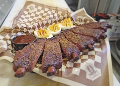 Smoked St Louis Style Ribs available during The Great Dine Out