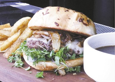 French Onion Burger available during The Great Dine Out