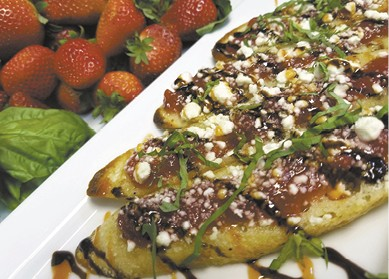 Strawberry Bruschetta Crostini available during The Great Dine Out