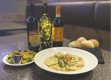 Chicken Marsala Ravioli available during The Great Dine Out
