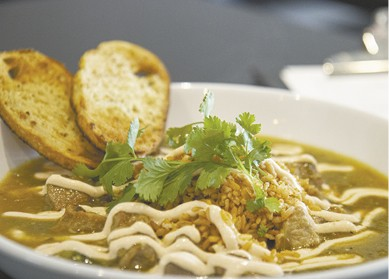 Chile Verde available during The Great Dine Out