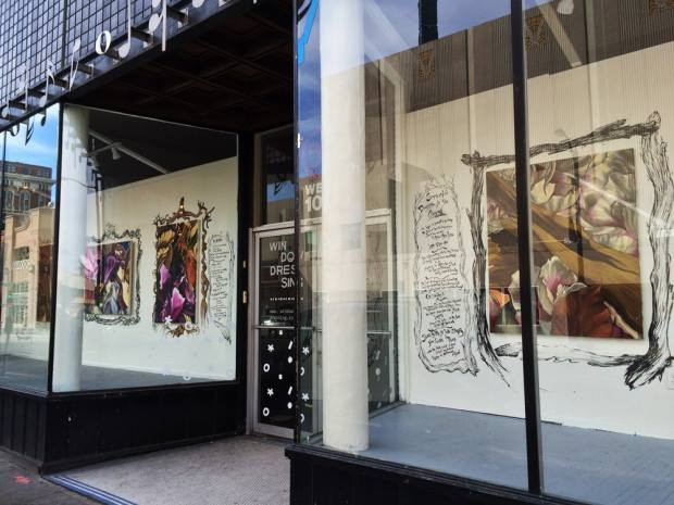 Artist John deRoulet's artwork was featured at Window Dressing's first site this spring. - WINDOW DRESSING