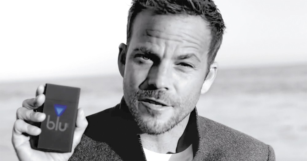 """I've been smoking for 20 years, and I just found the smarter alternative,"" says actor Stephen Dorff in an ad for Blu e-cigs."