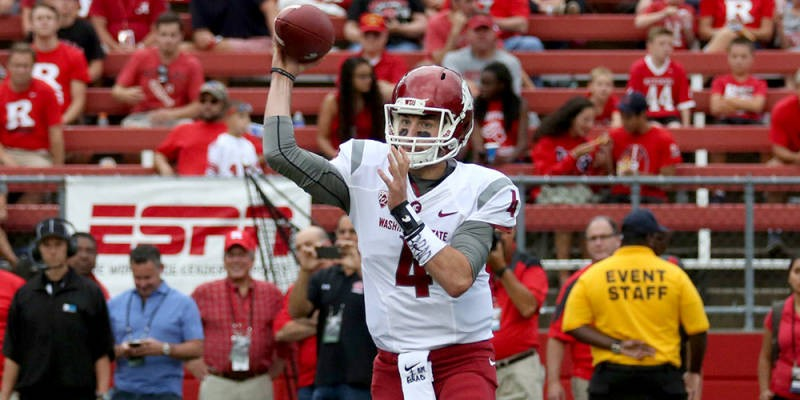 WSU quarterback Luke Falk tore it up in New Jersey on Saturday - WSU ATHLETICS