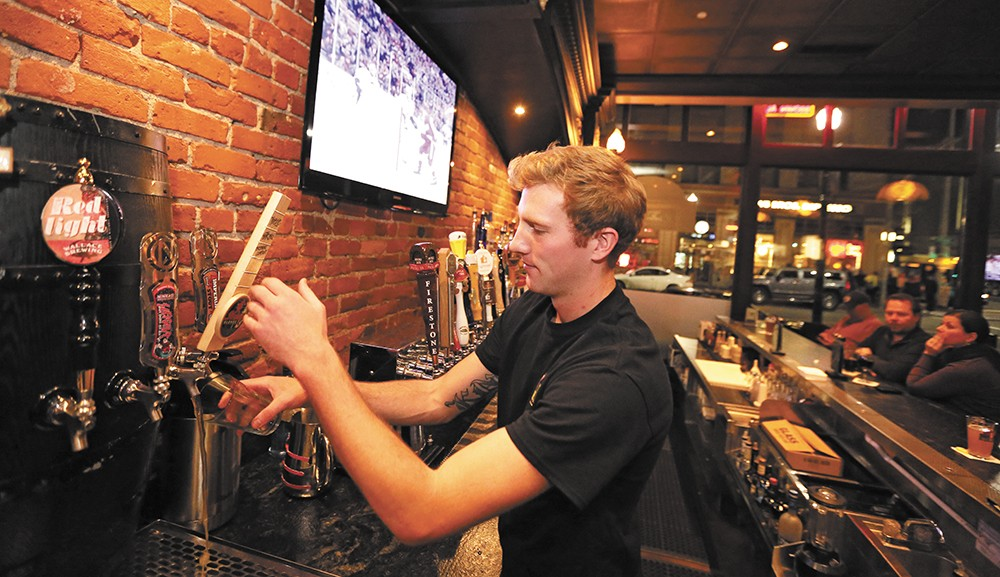 With your beer, consider fried pickles from the Post Street Ale House. - YOUNG KWAK