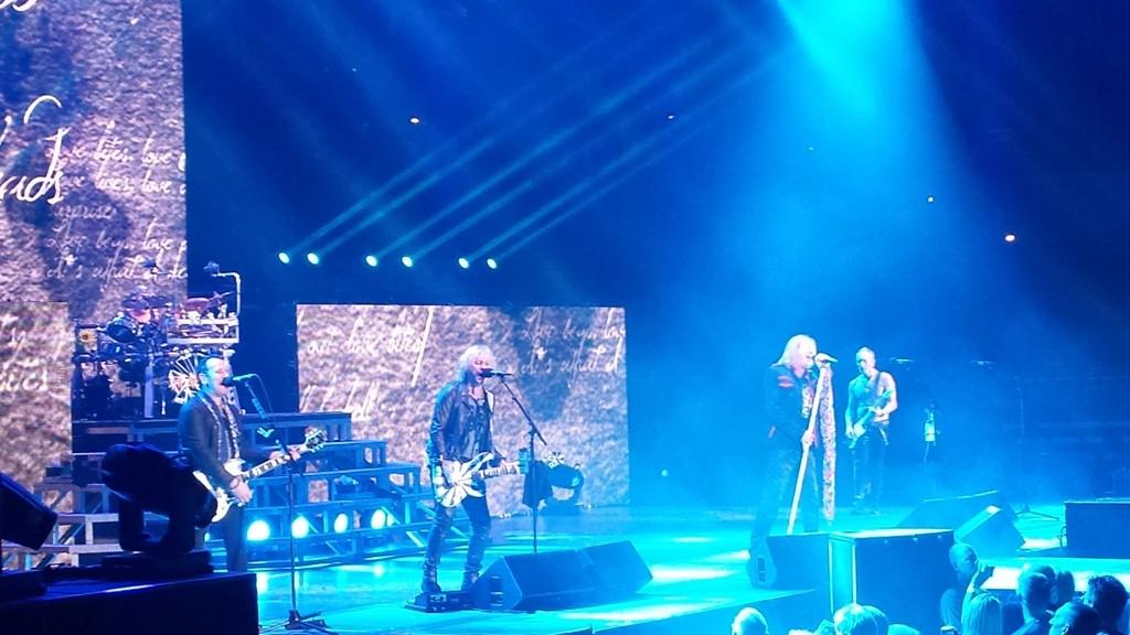 "Def Leppard knocks out ""Love Bites"" at Spokane Arena Wednesday. - DAN NAILEN"