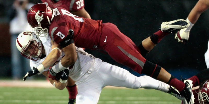Washington State's D played big, nearly leading the Cougs to a huge upset. - WSU ATHLETICS
