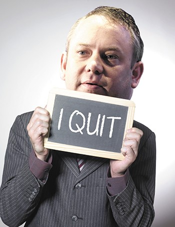 "One of the campaign slogans that readers suggested for Mayor Condon: ""I quit."""