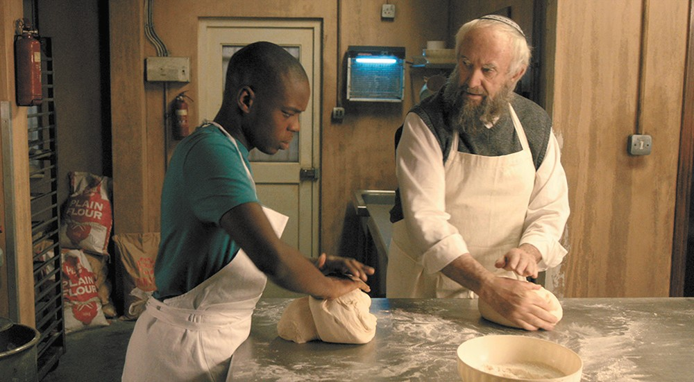 Jerome Holder (left) and Jonathan Pryce in Dough.