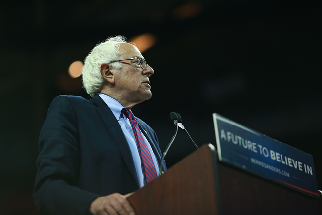 Believe in a future with Hillary Clinton as president, Bernie Sanders says