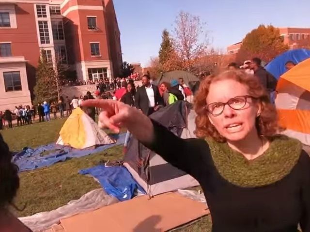 Melissa Click, pictured here yelling at a University of Missouri student journalist for covering a student protest, has been hired as a lecturer at Gonzaga. - YOUTUBE SCREENCAP