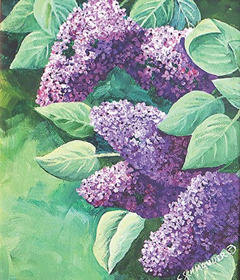 """Gifts from the Lilac City"" by Carol Schmauder, at the Liberty."