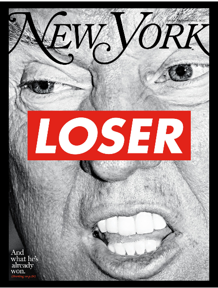 New York Magazine helpfully provides a Dewey Defeats Truman moment for our time.