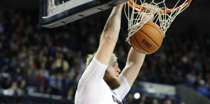 Gonzaga center Przemek Karnowski was a beast against Arizona on Saturday.