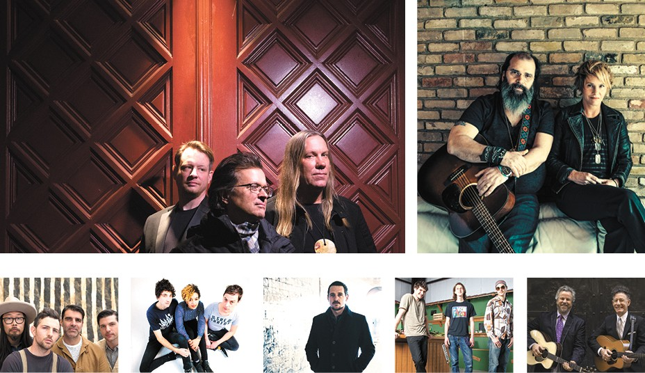 TOP ROW: Violent Femmes, and Steve Earle and Shawn Colvin. BOTTOM ROW: Avett Brothers, The Thermals, Sturgill Simpson, Moon Hooch and Robert Earl Keen and Lyle Lovett.