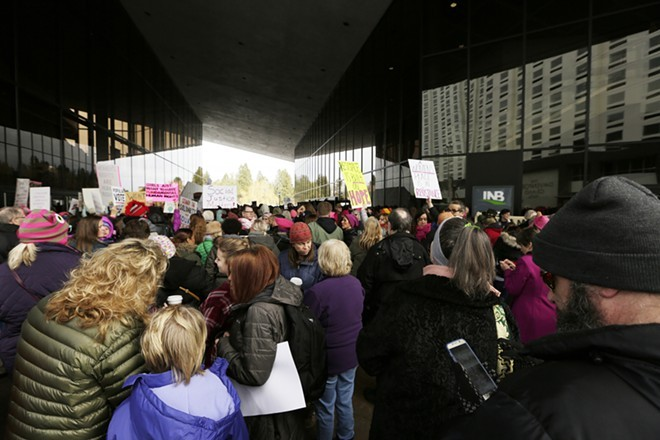 Washington DC is hosting a pro-life march today, just a few days after Women's Marches swept the country, like this one in Spokane.